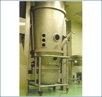 Top Spray Product container & Expansion chamber assembly